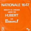 disque radio nationale 1647 nationale 1647 indicatif de l emission animee par hubert sur europe 1